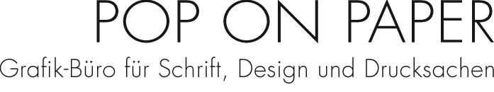 POP ON PAPER - Grafik-Büro für Schrift, Design und Drucksachen