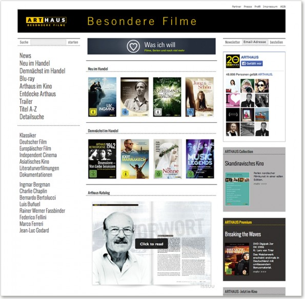 Arthaus_Webseite